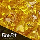 Sunflower Yellow Crushed Fire Glass 1/2″-3/4″ Firepit Glass 10 Pounds