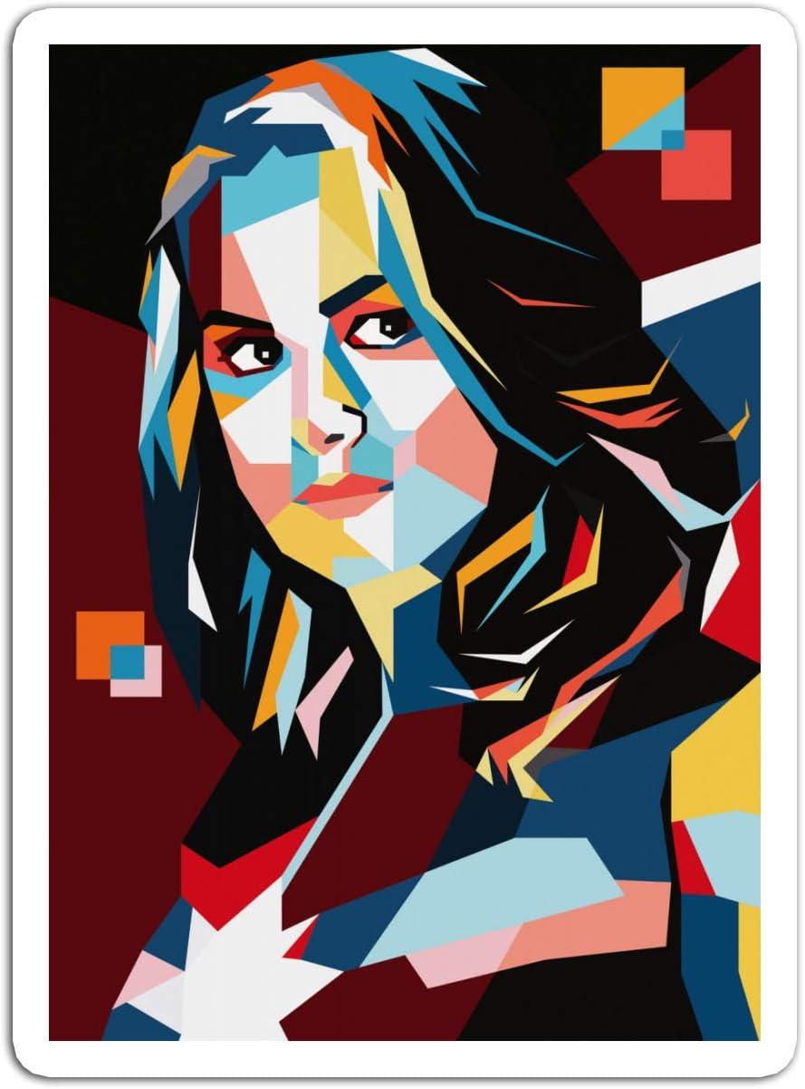 Amazon Com Sticker Motion Picture Captain Marvel Pop Art Brie Larson Pop Art Captain Action Movies Video Film 229737 3 X 4 3 Pcs Pack Home Kitchen