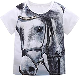 Baby Boys Shirts for 1-5Years Kids, Iuhan 3D Animal Print Blouse Tops Children Boys Girls Tiger T-Shirt Tops Outfits Casaul Clothes (12-18Months, White-Tiger)