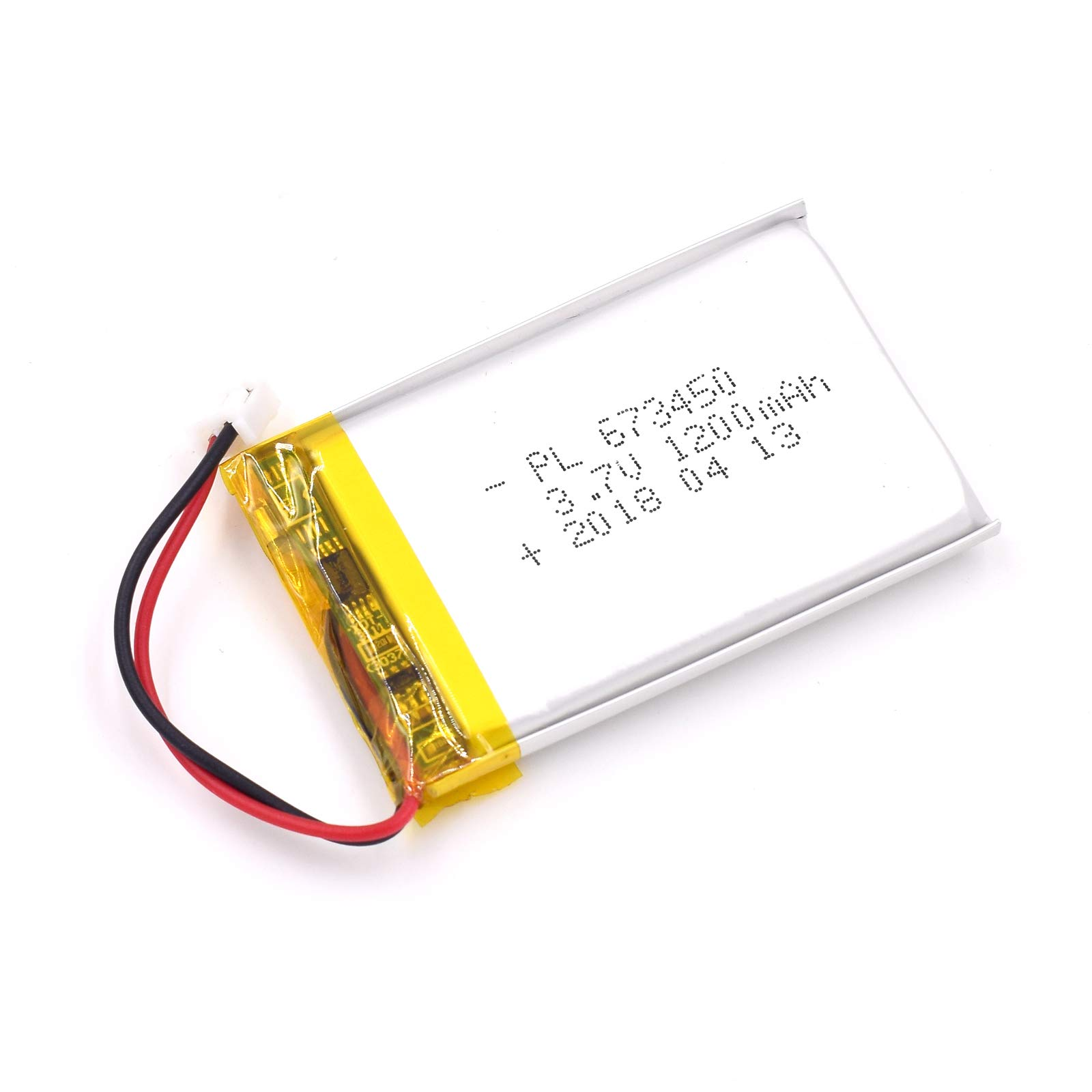 AKZYTUE 3.7V 1200mAh 783448 Lipo Battery Rechargeable Lithium Polymer ion Battery Pack with JST Connector