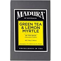 Madura Green and Australian Lemon Myrtle 20 Enveloped Tea Bags, 1 x 30 g