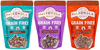 product image for Paleonola Grain Free Gluten Free Granola 3 Flavor Variety Bundle: (1) Paleonola Original Granola, (1) Paleonola Chocolate Fix Granola, and (1) Paleonola Maple Pancake Granola, 10 Oz. Ea