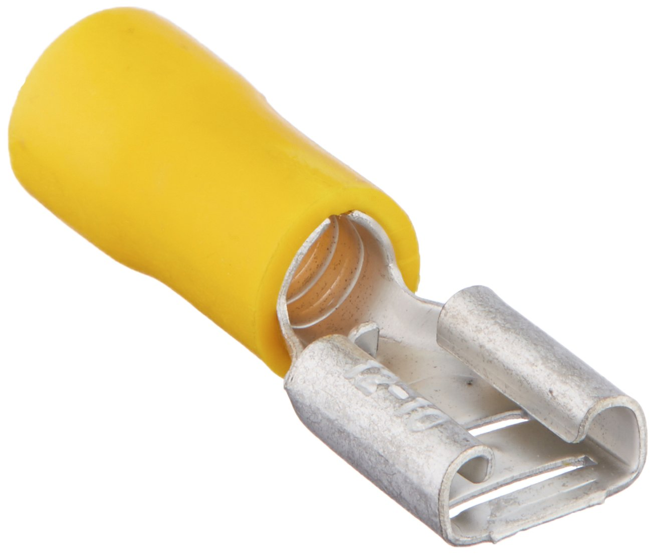 Install Bay YVFD250 Vinyl Female Connector 12/10 Gauge .250, Yellow (100-Pack)