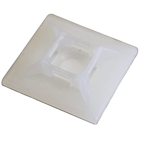 532113d74942 Bulk Hardware BH03054 Self Adhesive Cable Tie Mounts, 19mm (3/4 inch)  Square - White, Pack of 100: Amazon.co.uk: DIY & Tools