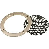 B Baosity Haut-Parleur Audio Grille Maille avec 4 Vis Installation - 9,5 * 9,5cm - Or