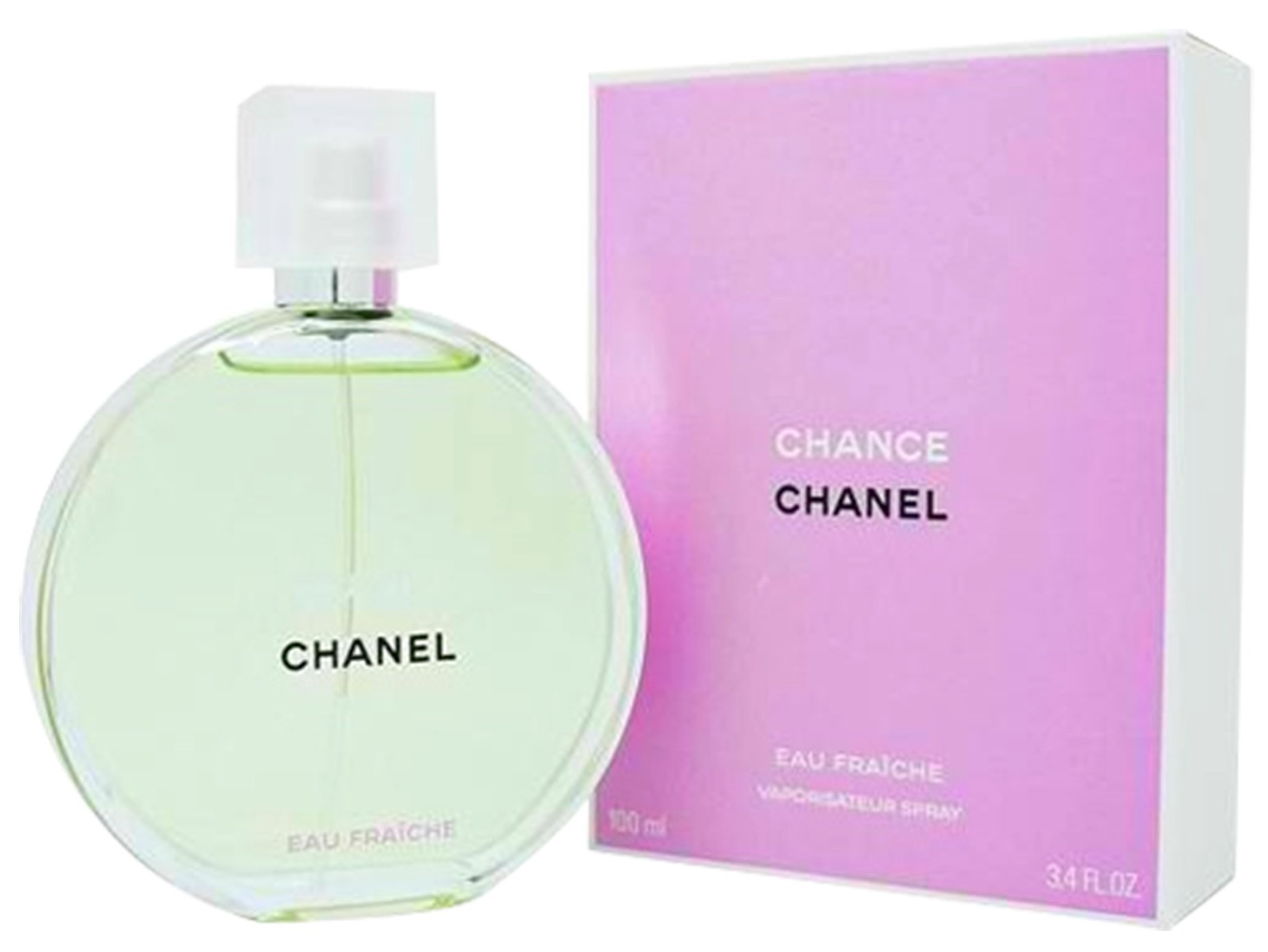 Chânel Chance Eau Fraiche Eau De Toilette Spray for Woman, EDP 3.4 Ounces 100 ML