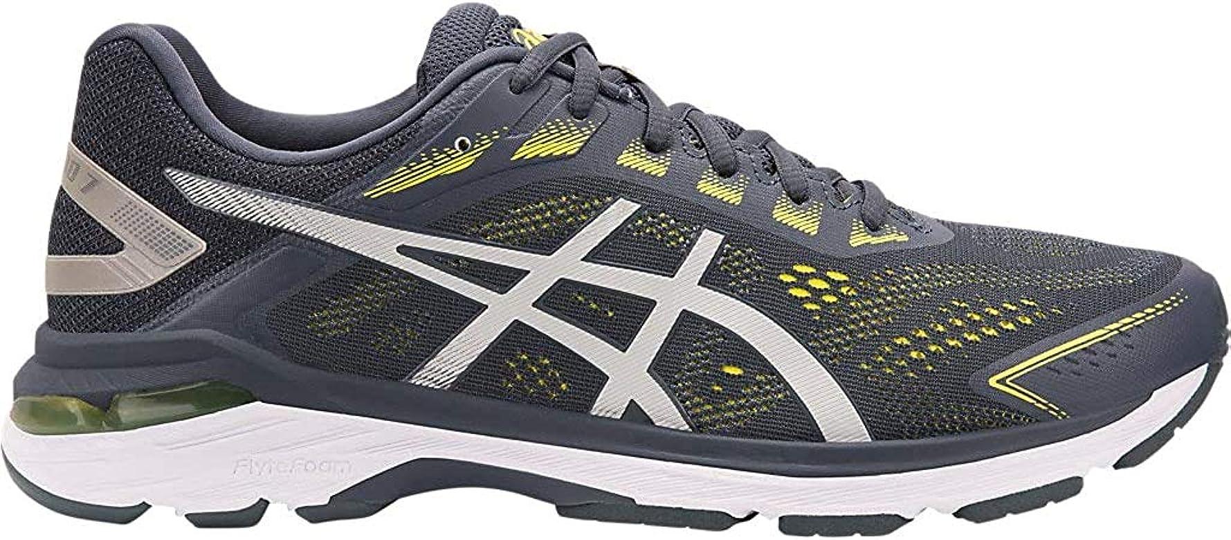 Asics GT-2000 7 - Zapatillas de correr para hombre, Gris (Chispa de Tarmac/Limón), 41 EU: Amazon.es: Zapatos y complementos