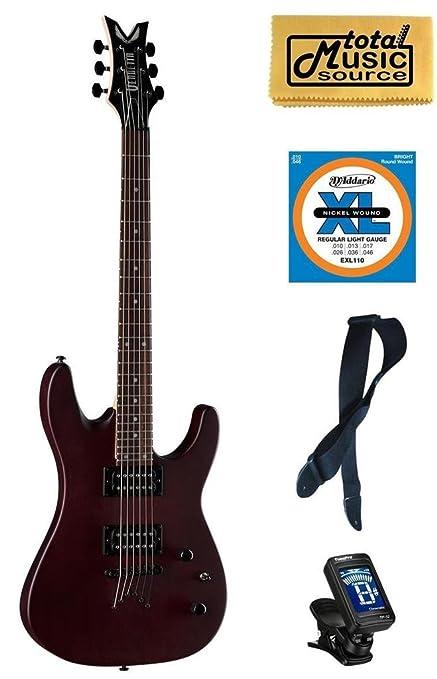 Dean Guitars Vendetta XM satén Natural sintonizador de cuerdas de guitarra eléctrica libre gamuza de correa