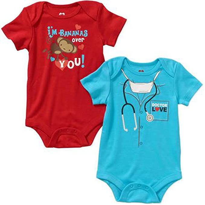 Amazon Com Baby Boys Girls Valentine S Day All Occasion Bodysuits