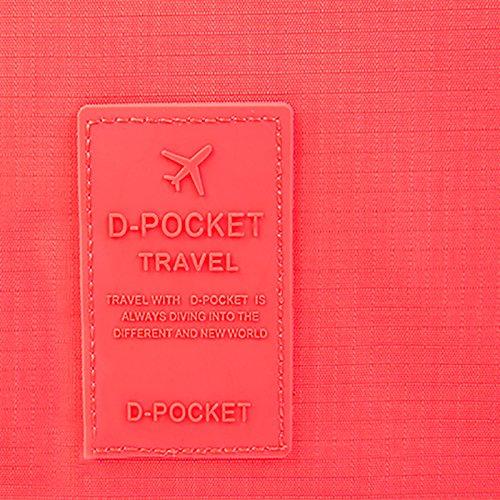 Travel Make-up Kosmetik Storage Waschen Tasche, 23,9x 18,5cm Wasserdicht Haning Travel Kit Kulturbeutel rot Rose