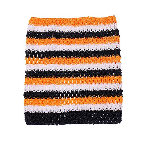(9inch Crochet Tutu Tube Tops Elastic Wrapped Chest for Girls DIY Tutu Dress Pettiskirt Tutus Tops (Halloween)