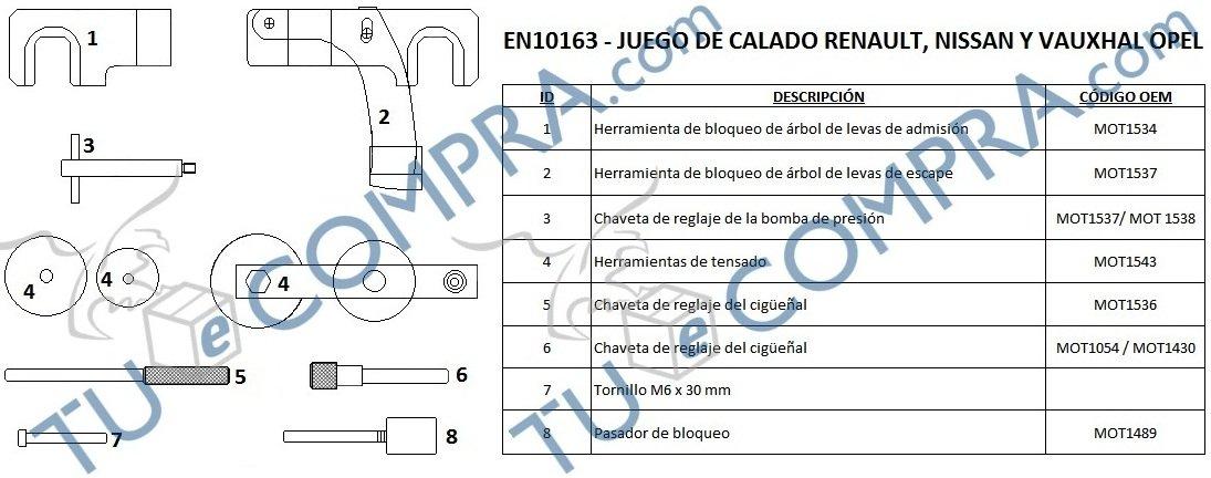 Tuecompra S.L. Juego DE Calado para REGLAJE Y DISTRIBUCIONES y Puesta A Punto DE Motores: Amazon.es: Coche y moto