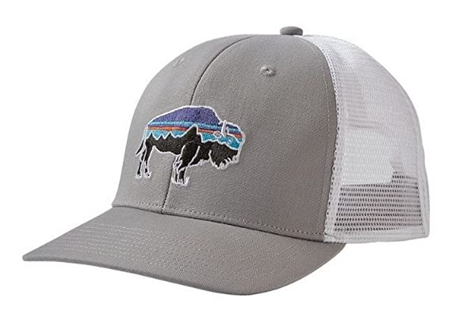 0b4254dbf78e3 Amazon.com  Patagonia Fitz Roy Bison Trucker Hat (Drifter Grey ...