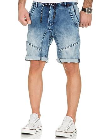 URBAN SURFACE HERREN Jogg Jeans Shorts Bermuda kurze Hose