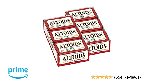 ALTOIDS Classic Peppermint Breath Mints, 1 76-Ounce Tin (Pack of 12)