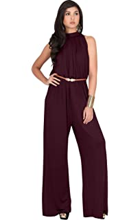 f63ffdcd3ab9 KOH KOH Womens Sexy Sleeveless Wide Leg Pants Cocktail Pantsuit Jumpsuit  Romper
