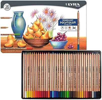 Lyra - Rembrandt Polycolor Colored Pencil Set - 36-Color Set