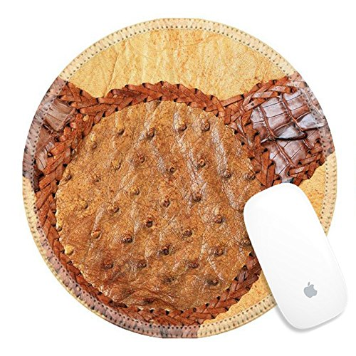 Luxlady Round Gaming Mousepad 32963769 Leather cowboy (Hairy Cowboy)