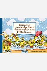 Wenn sieben grummelige Hasen quietschvergnügt durch Pfützen rasen Board book