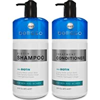 Biotin Shampoo and Conditioner for Hair Growth | Thickening Anti Hair Loss Shampoo Treatment | Regrowth Shampoo & Conditioner for Dry Normal Oily & Color Treated Hair