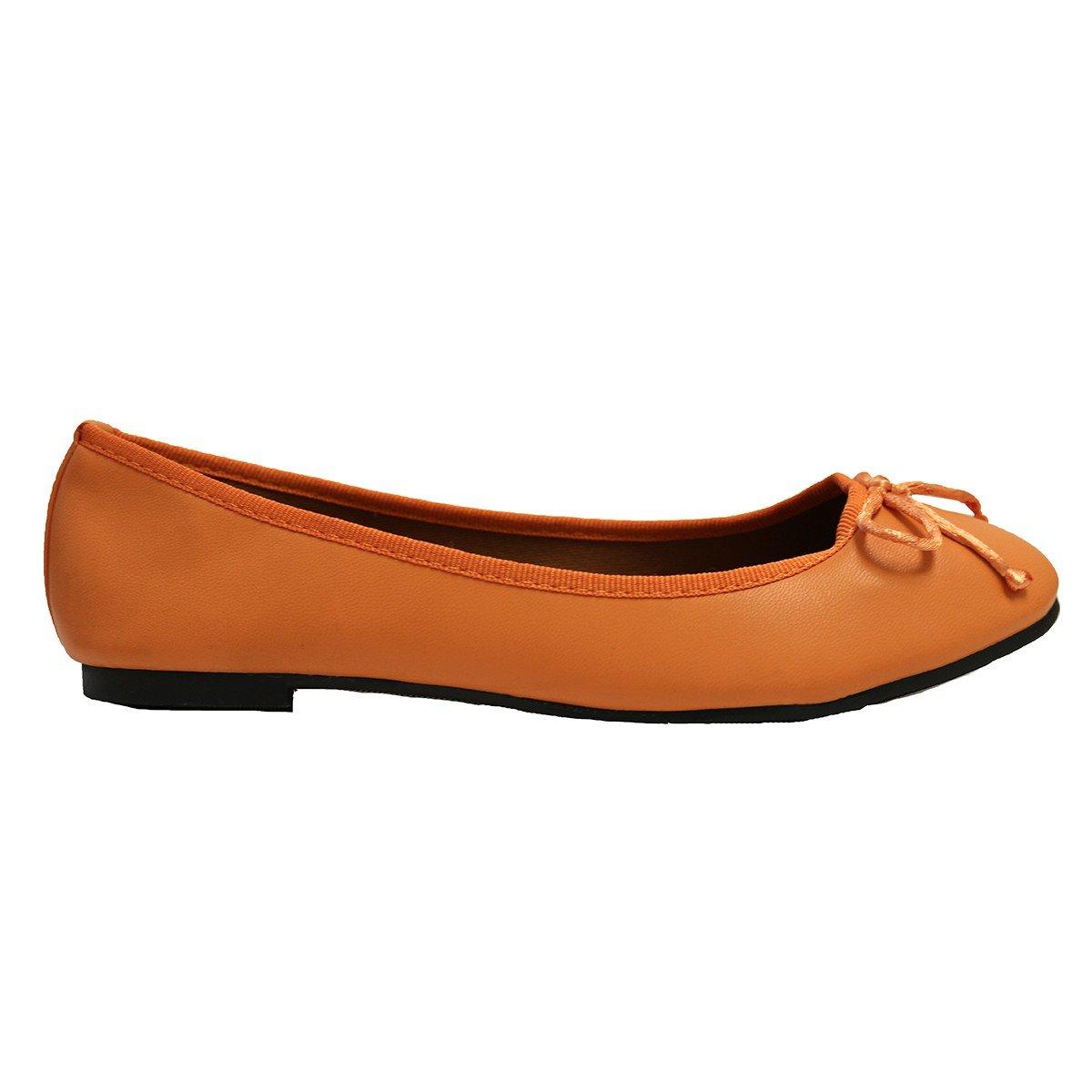Lily Shoes Ballerines Oranges Avec Petit Noeud j1ovGxYGcY