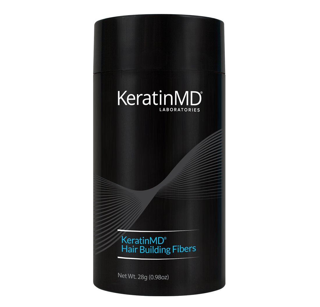 KERATINMD LABORATORIES Hair Building Fibers, Black, 28 Gram