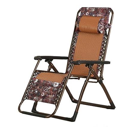 Sensational Amazon Com Khl Three Fold Rattan Folding Chair Recliner Machost Co Dining Chair Design Ideas Machostcouk