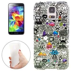 Grey Lives Pattern TPU Case Funda Carcasa Para Samsung Galaxy S5 G900