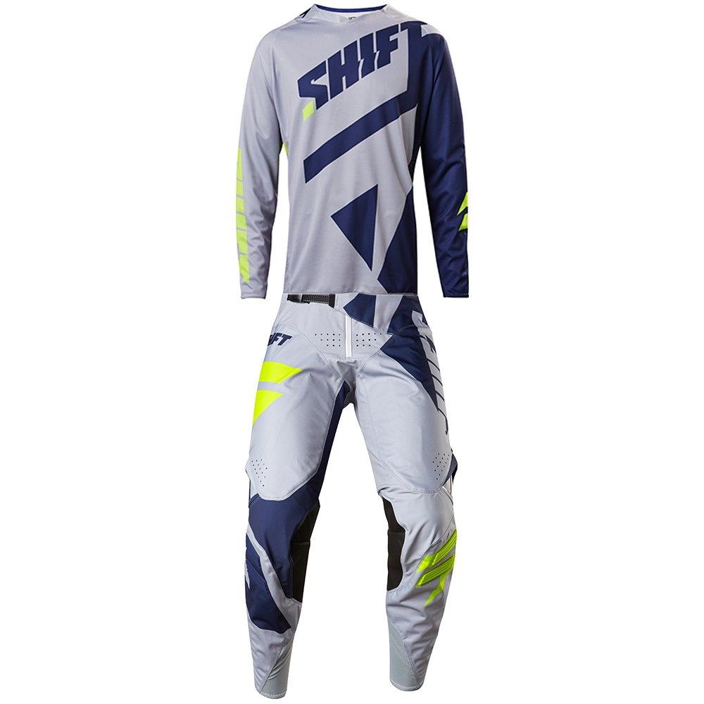 SHIFTMX Shift MX - 2017 Black Label Mainline Grey Jersey/Pant Combo - Size MEDIUM/32W