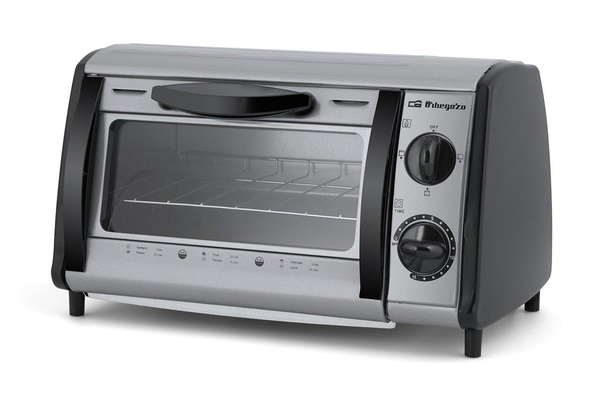 Orbegozo HO 810 A Mini horno- tostador multifunción, 800 W, 8 litros, Gris product image