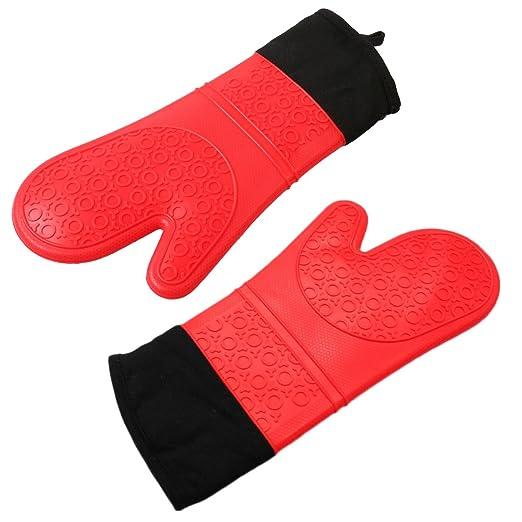 dooppa resistente al calor guantes para horno de silicona (1 par ...