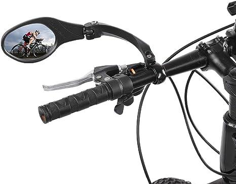 OhhGo Espejo de Bicicleta Acero Inoxidable 360 rotación Manillar ...