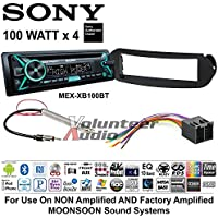 Sony MEX-XB100BT Double Din Radio Install Kit with Bluetooth, CD Player, USB/AUX Fits 1998-2011 Volkswagen Beetle - (Non Amplified and Monsoon Vehicles Only)