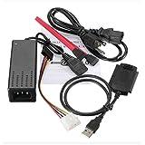 """HaoYiShang USB 2.0 À IDE SATA 2.5 3.5 Câble adaptateur convertisseur pour 3.5 """"2.5 HDD/SSD disque dur CD/DVD/RW kombiniertes CD-ROM"""