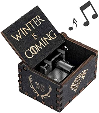 Cerekony Juego de Tronos Caja de música Merchandise, inspirado mano Crank Collection Figuras Dragon GOT Negro: Amazon.es: Hogar