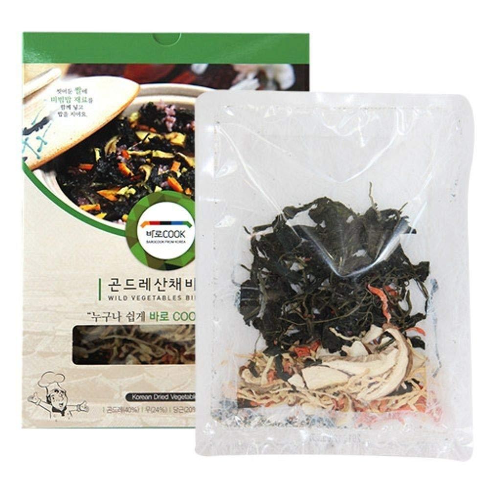 Dried Seasoned Thistle 25g x 3 Packs, Product of Korea, Bibimbap 곤드레