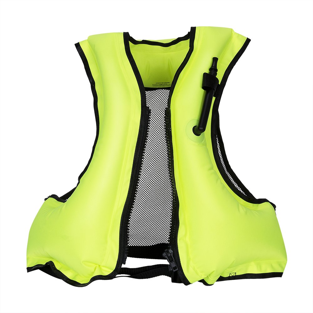HOMEIDOL Inflatable Snorkel Vest Adult Life Jackets Diving Swimming Vests Suitable for 66-220lbs