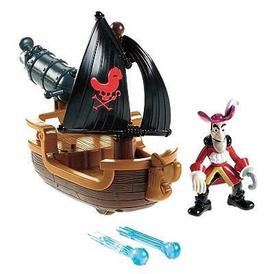 Fisher-Price W5264 - Jake et les Pirates- Figurine - Bateau du Capitaine - Crochet