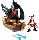 Fisher Price - W5264 - Jake et les Pirates- Figurine - Bateau du Capitaine - Crochet