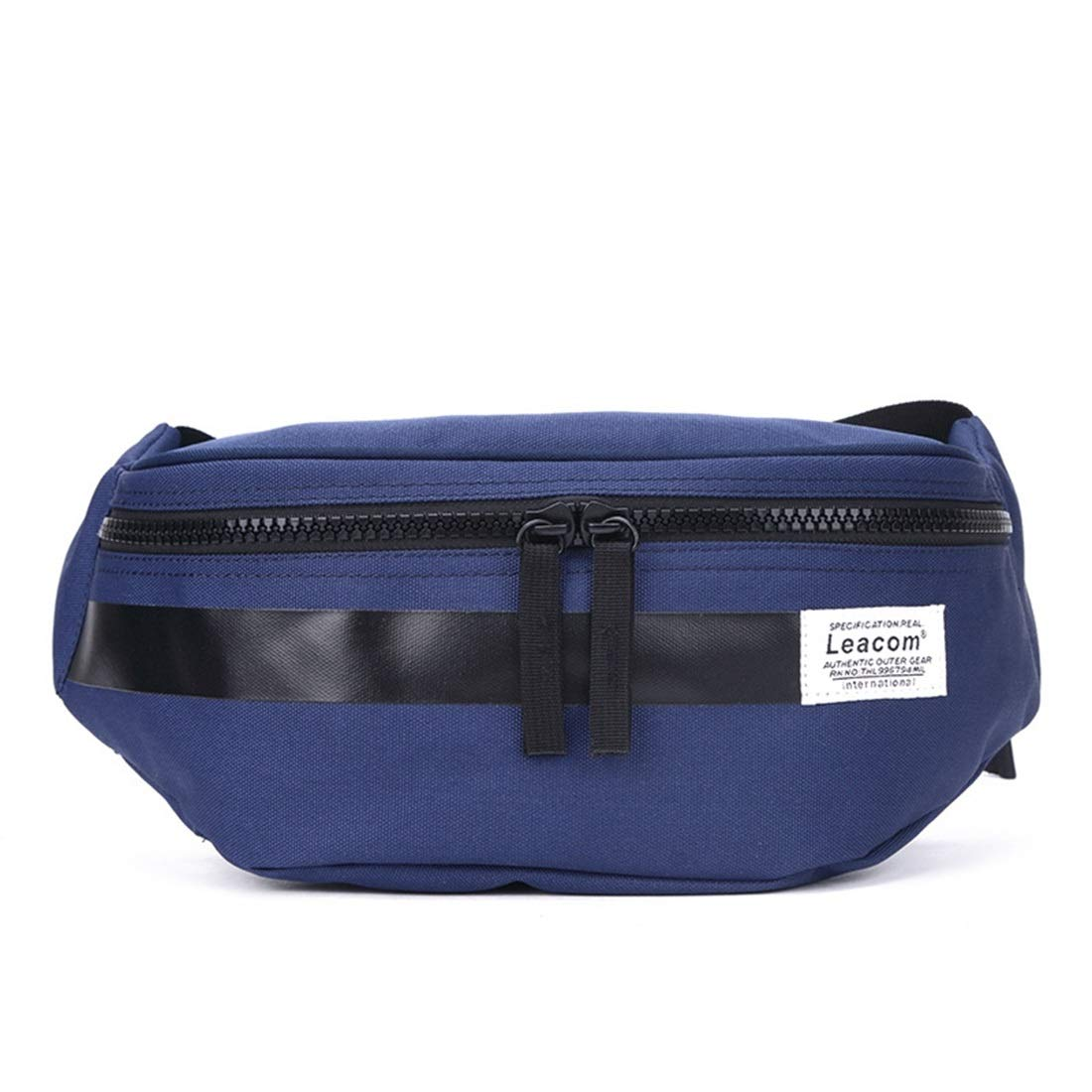 RABILTY Fanny Pack Black Waist Bag Travel Hiking Hip Bum Purse Blue Polyester Travel Money Belt RFID Blocking Color : Blue