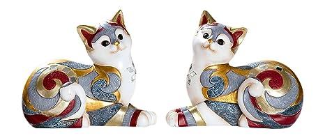 Deko figuras gatos en Juego de 2 – 2 Esculturas en mosaico Diseño a un precio