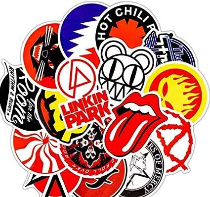 DZCYAN 50PCS Pack Rock Stickers Set Heavy Metal Band Stickers para ...