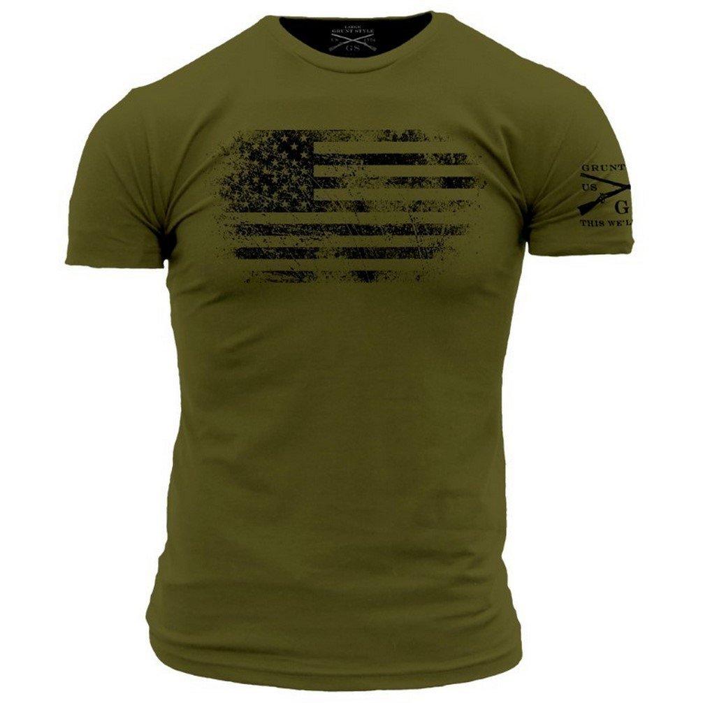 ce9e28bb Amazon.com: Grunt Style America Vintage Men's T-Shirt: Clothing