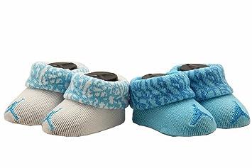 Nike Air Jordan Jumpman Newborn Baby Booties Turquoise White, Size 0-6  Months.