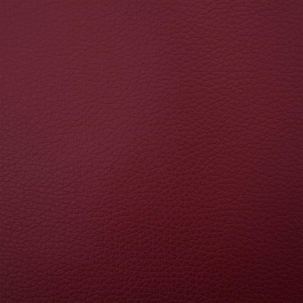 vidaXL Sdraio Massaggiante con Cuscino Rosso Vino in Similpelle