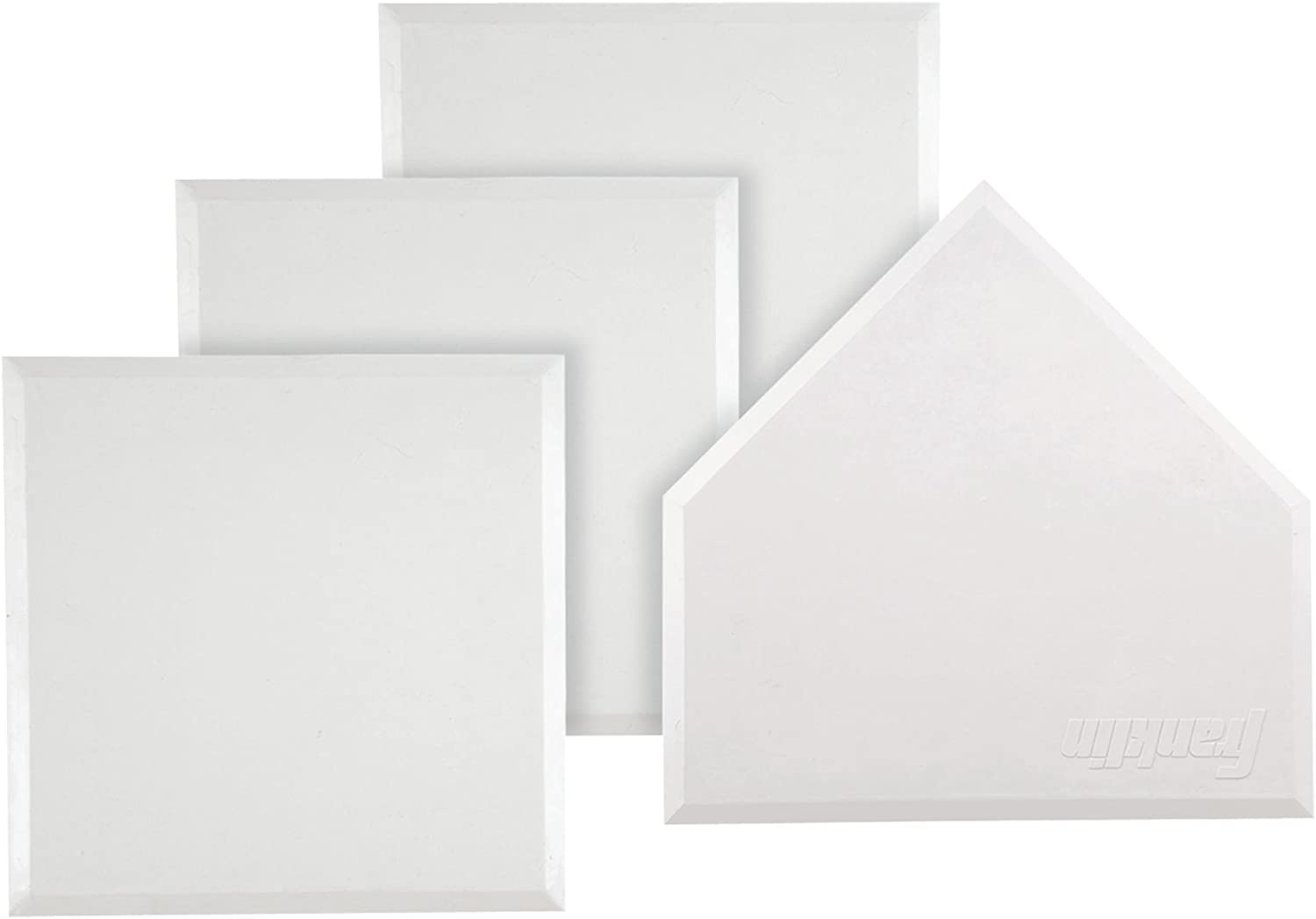 B00004T1JW Franklin Sports MLB Heavy Duty Rubber Base Set - 4 White Throw Down Style Bases - Baseball, Softball, or Kickball Home Plate and Bases with Waffle Bottom Construction 618wjsBMsjL
