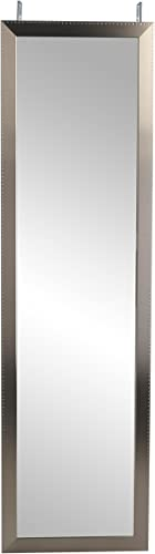 BrandtWorks, LLC BM26THINH Embossed Silver Over The Door Full Length Mirror