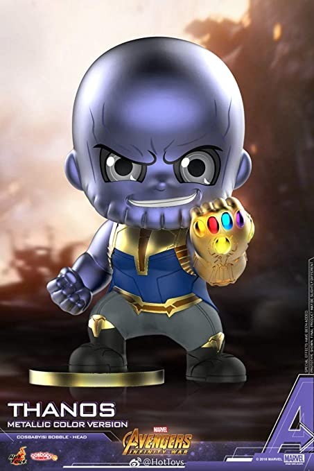 Thanos Cosbaby Bobble-Head Figure by Hot Toys Marvel/'s Avengers Infinity War