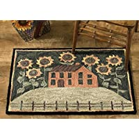 Park Designs House Sunflowers Hooked Rug