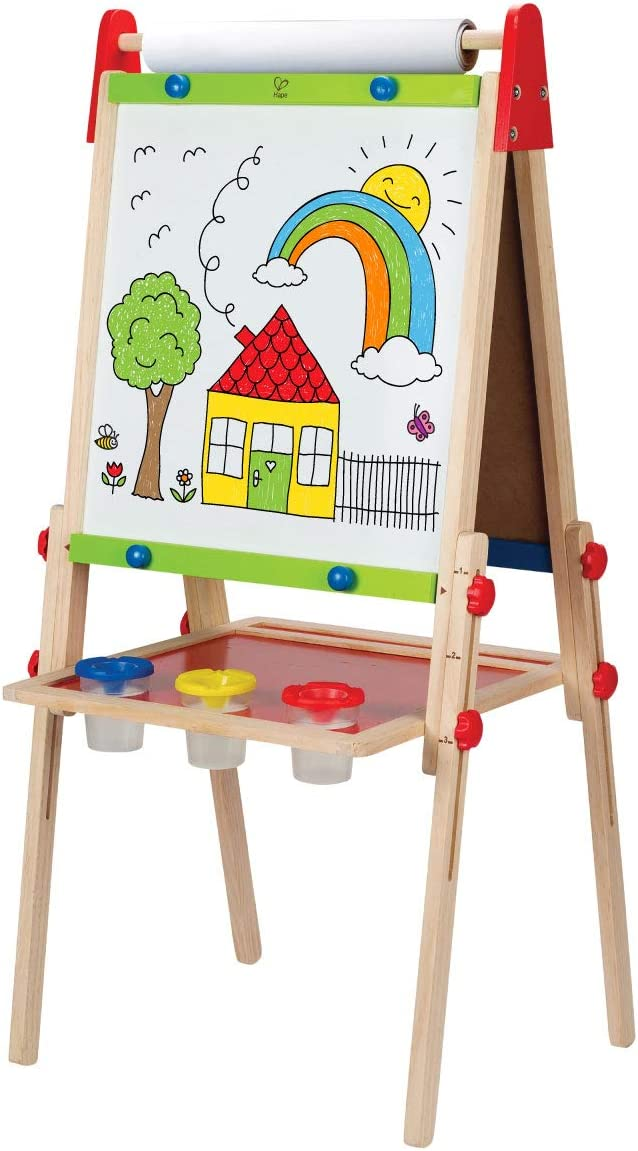 Award Winning Hape All In One Wooden Kid S Art Easel With Paper Roll And Accessories